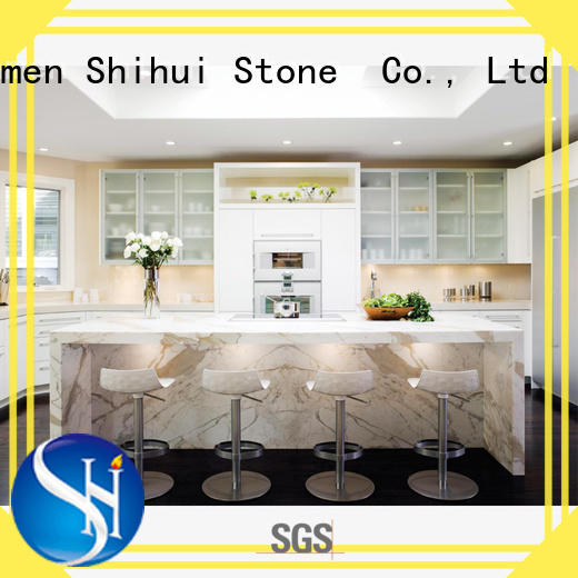 Shihui certificated engineered stone countertops personalized for bathroom