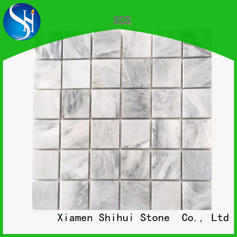 Shihui hexagon natural stone mosaic tiles directly sale for indoor