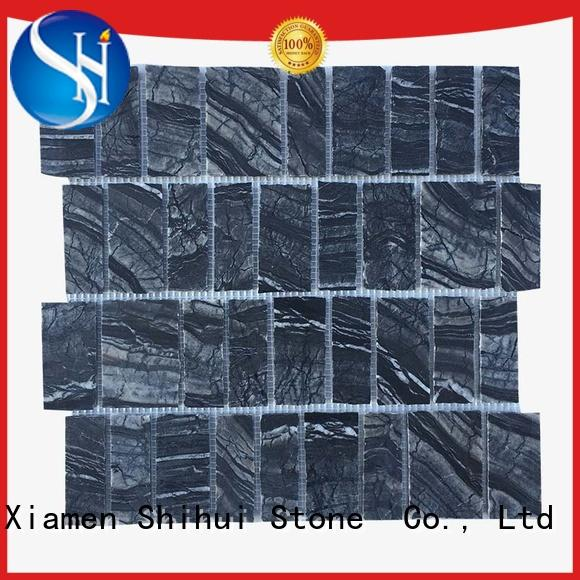 Shihui ivory stone mosaic tile backsplash series for indoor