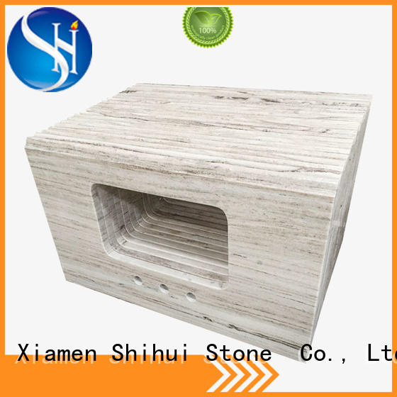 Crystal Wood Grain Marble Countertop Quartz Kitchen Countertops