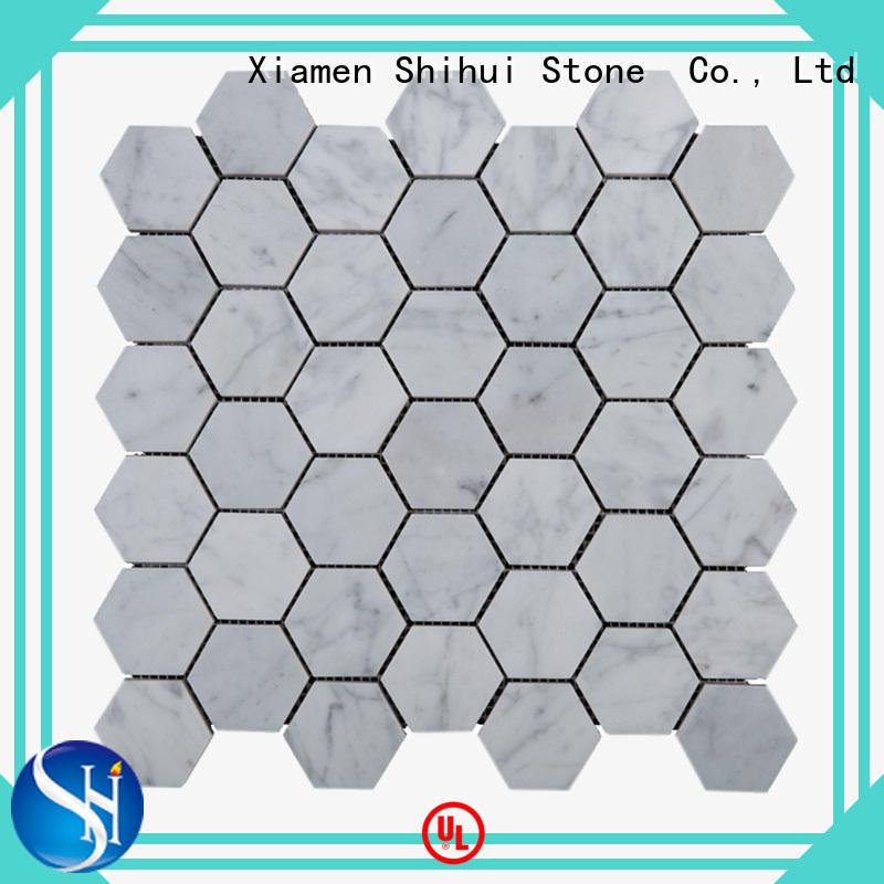 HexagonCarrara Mosaic Natural Stone Mosaic