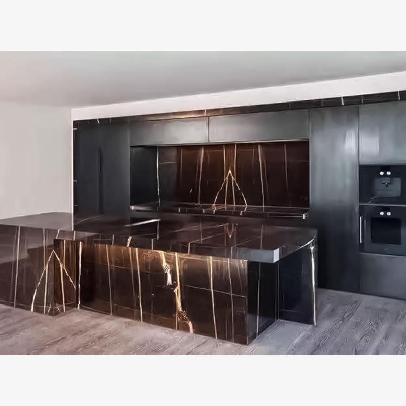 Noir Saint Laurant Marble Countertop Stone Kitchen Countertops