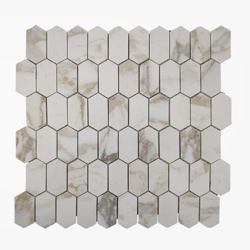 Calacatta Gold Marble Honeycomb Tile Stone Mosaic