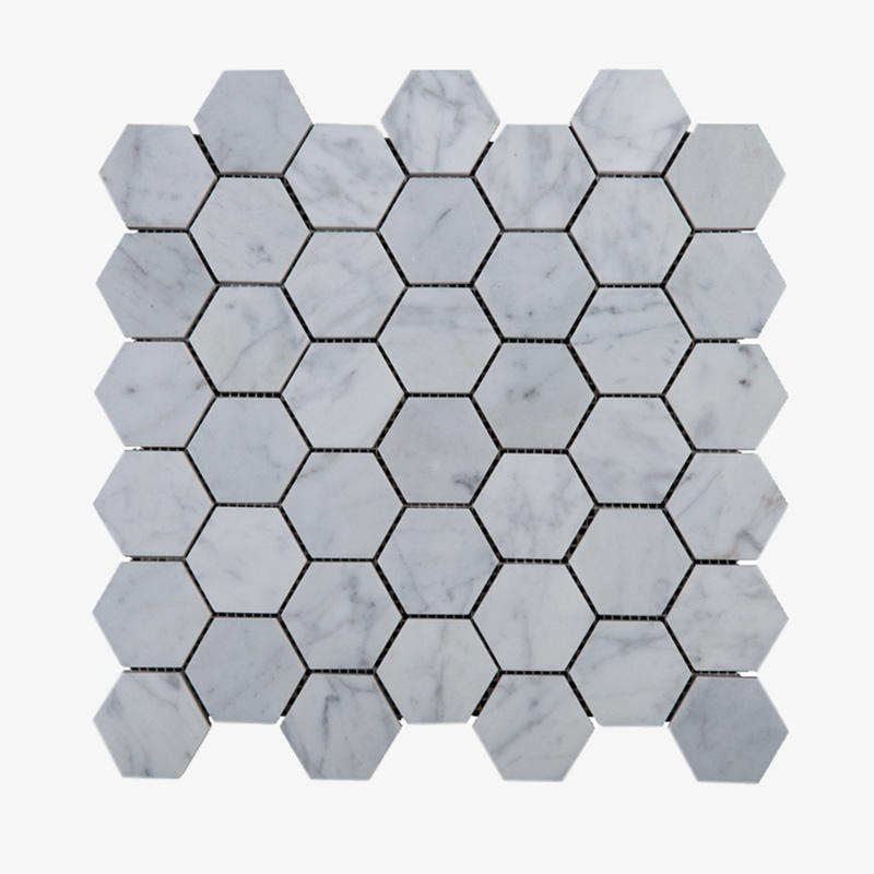 hexagon tile stone mosaic from China for toilet