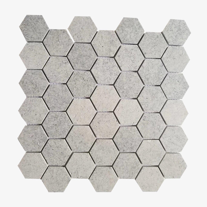 Hexagon Ivory White Travertine Mosaic Tile Stone Mosaic