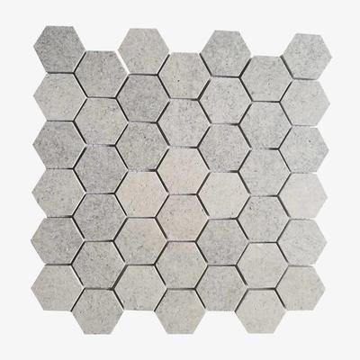 Hexagon Ivory White Travertine Mosaic Tile Stone Mosaic
