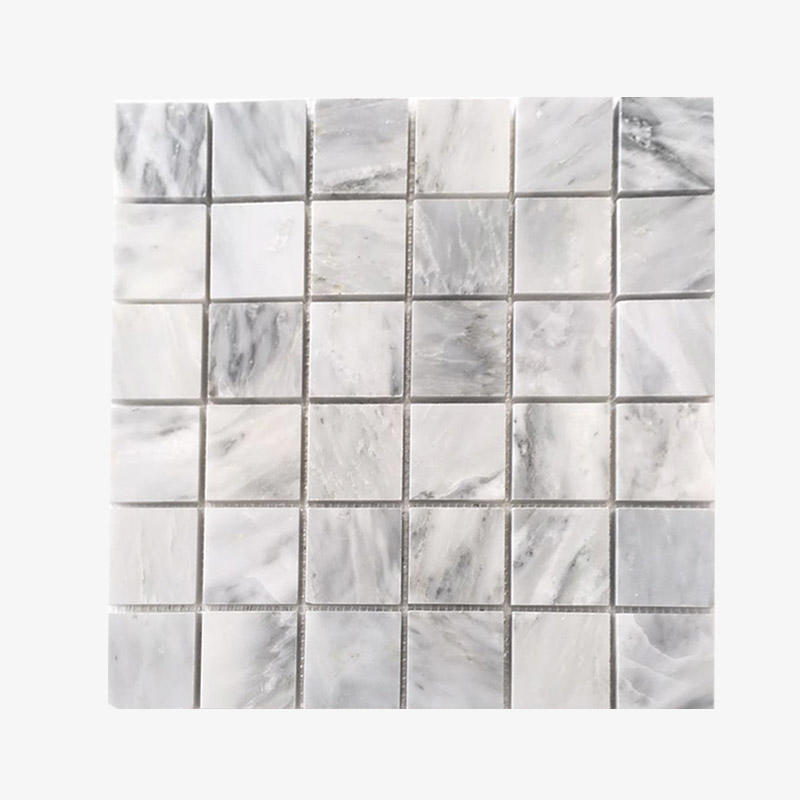 Square Oriental White Marble Mosaic Natural Stone Mosaic Tiles