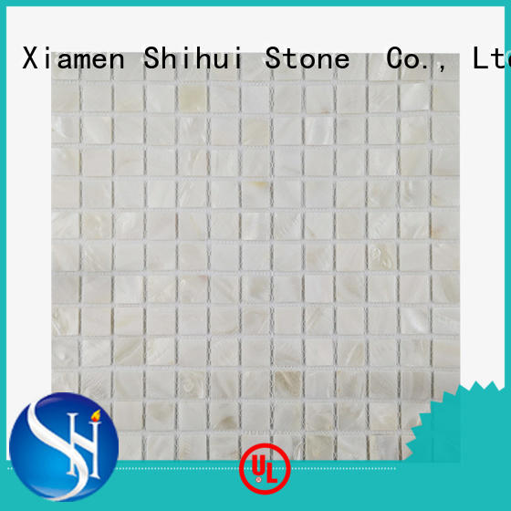 ivory natural stone tile mosaic manufacturer for household
