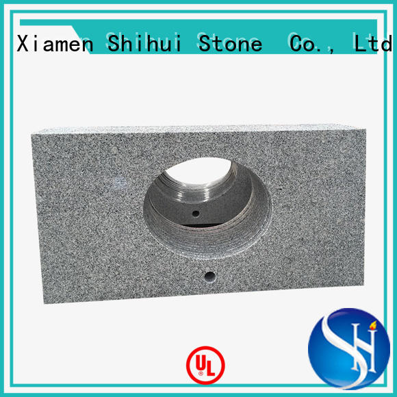 Shihui certificated manufactured stone countertops wholesale for bathroom