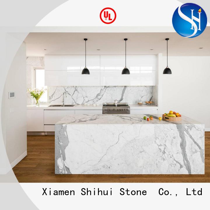 Shihui real quartz countertops factory price for bathroom