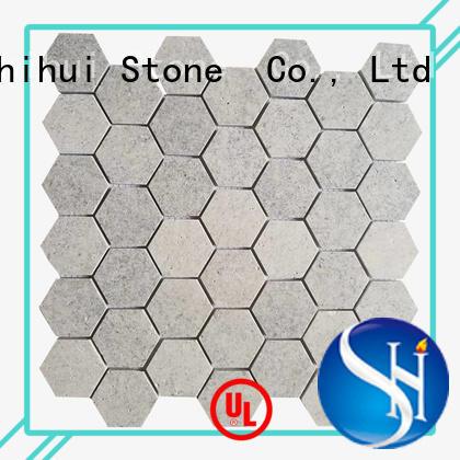 Shihui practical stone mosaic tile backsplash series for indoor