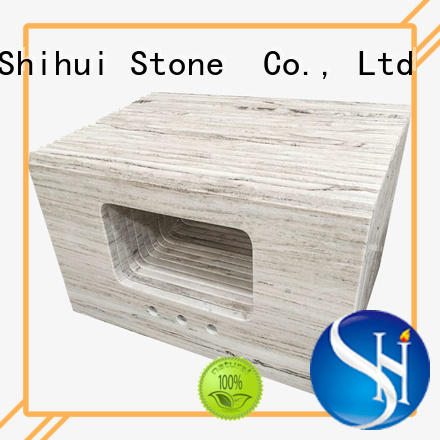 Shihui sturdy engineered stone countertops factory price for kitchen