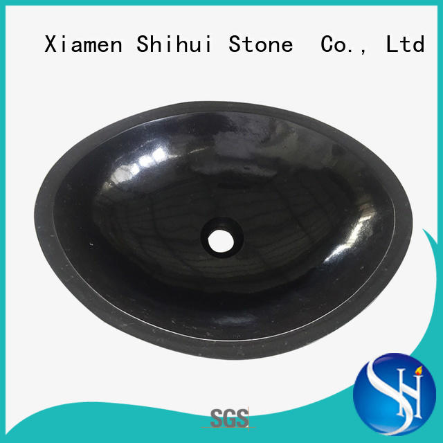 Guangxi Black Basalt Natural Stone Basin