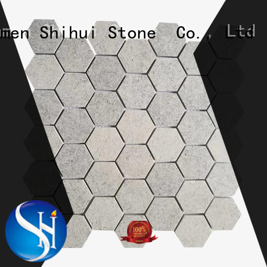 flat stone mosaic tile for indoor Shihui