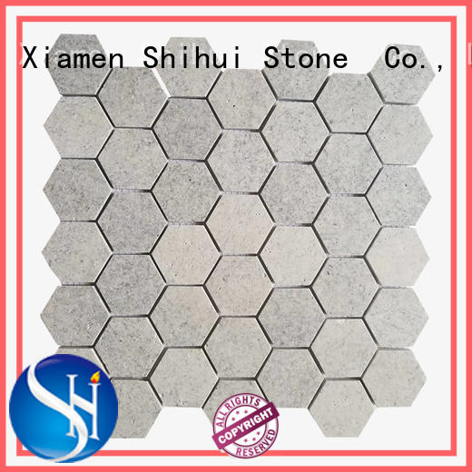 pebble stone mosaic tile for toilet Shihui