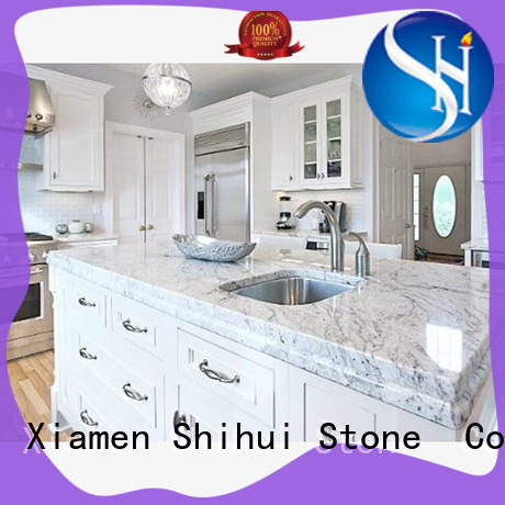 Shihui sturdy manufactured stone countertops factory price for bar