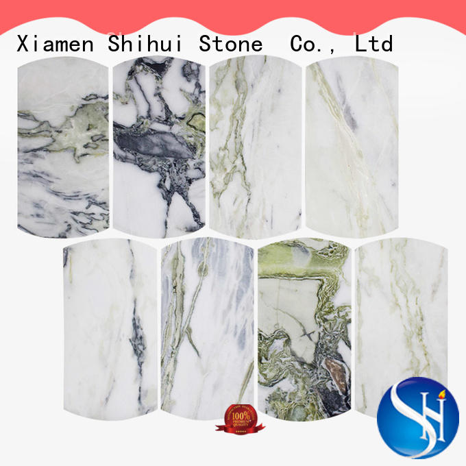 Natural Stone Tile Mosaic Ice Green Marble Stone Arc Mosaic