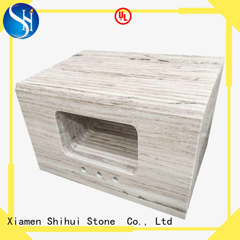 Shihui calacatta engineered stone countertops factory price for hotel