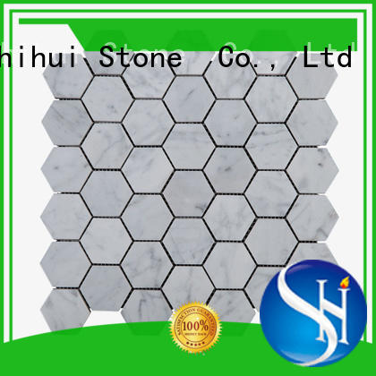 Shihui quality natural stone mosaic tiles directly sale for indoor