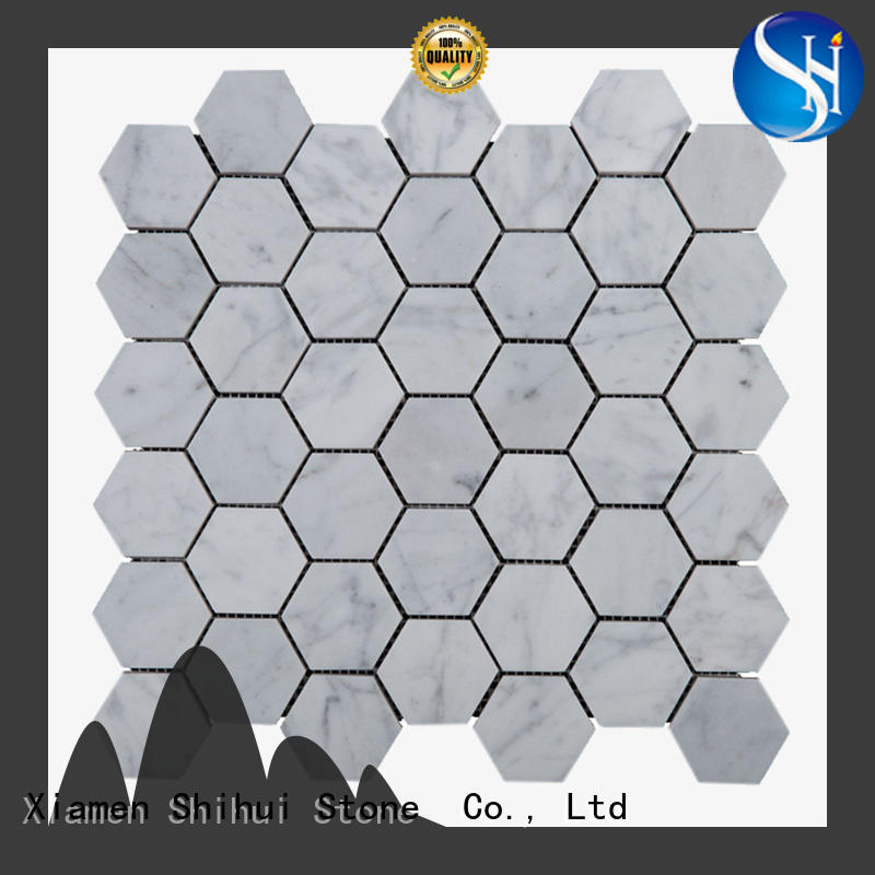 Shihui quality tile stone mosaic from China for indoor