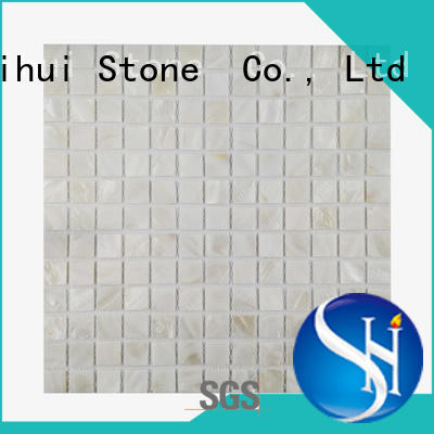 Shihui hot selling stone mosaic border tiles customized for toilet