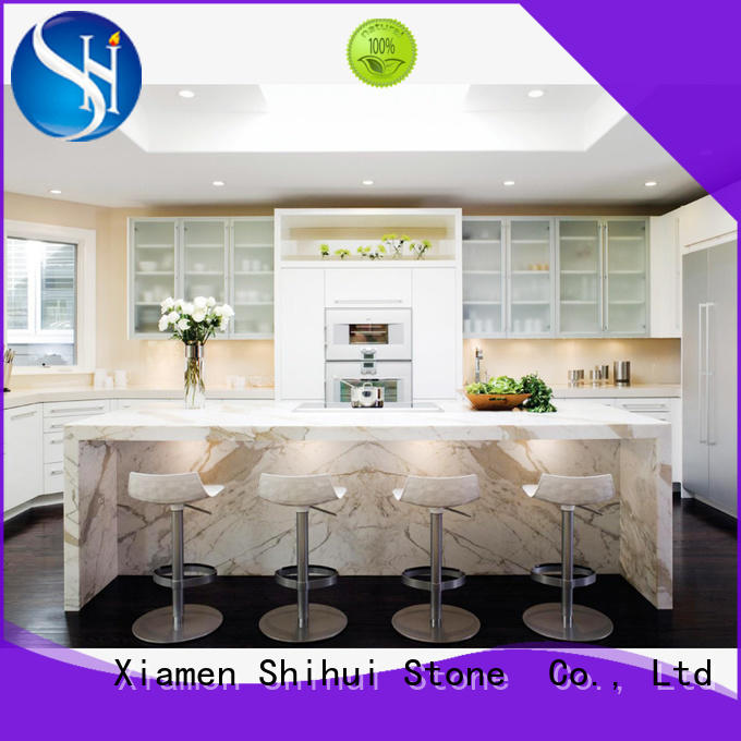 solid quartz countertop for bar Shihui