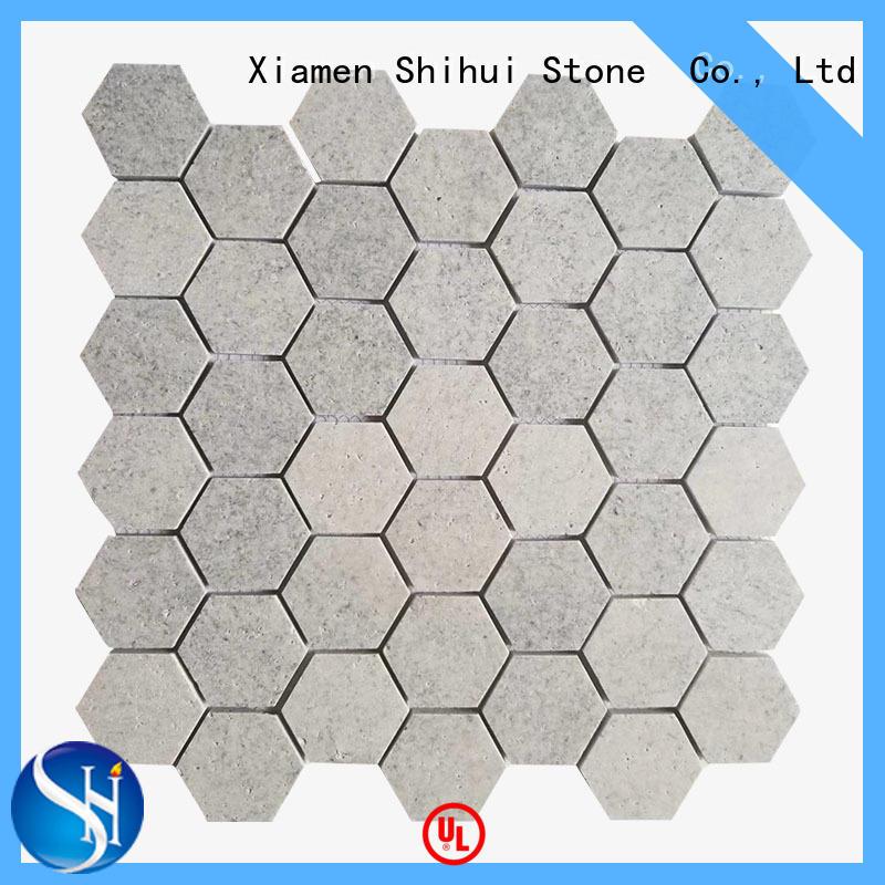 Shihui basalt stone mosaic tile backsplash series for bathroom