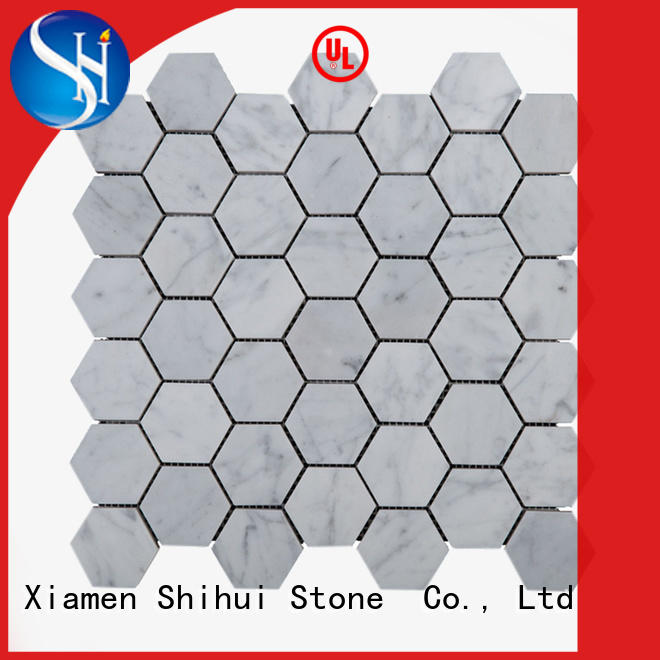 Shihui oriental natural stone mosaic tiles from China for bathroom