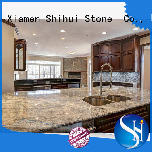 Shihui sturdy manmade stone countertops personalized for bathroom