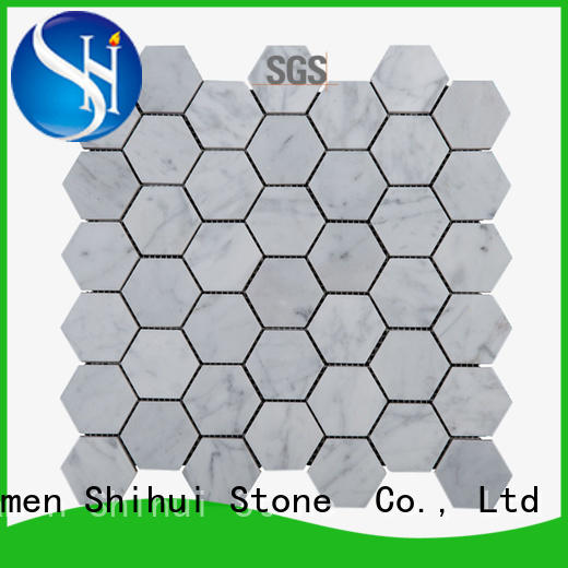 square stone mosaic backsplash directly sale for household