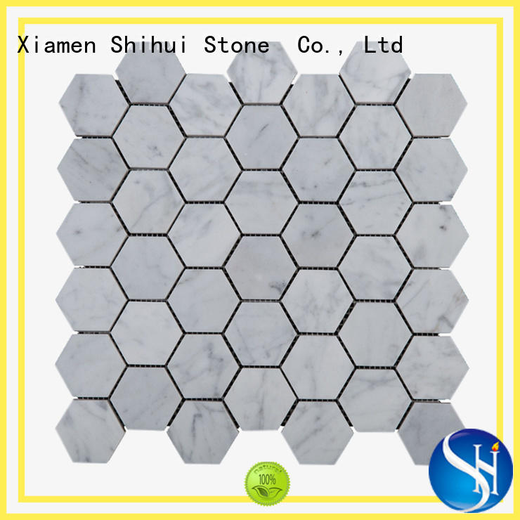 Shihui grey sandstone mosaic tiles for toilet