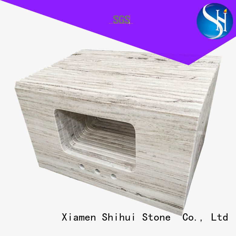 Shihui sturdy solid stone countertops personalized for hotel