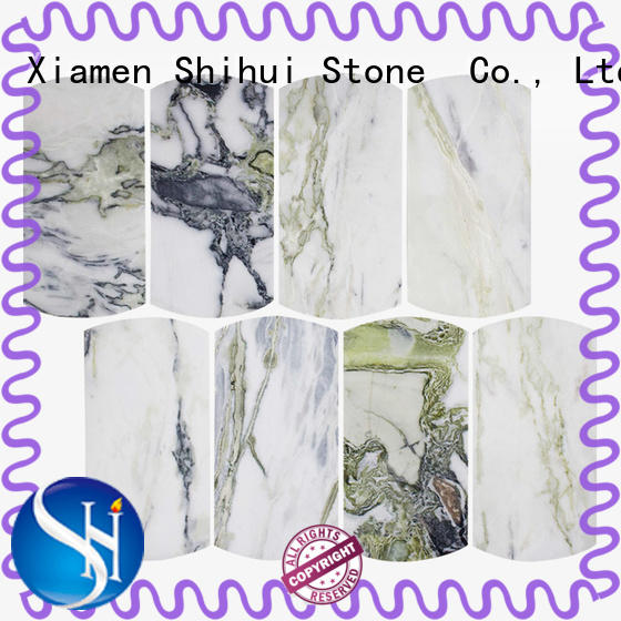 Shihui hexagon natural stone tile mosaic directly sale for toilet