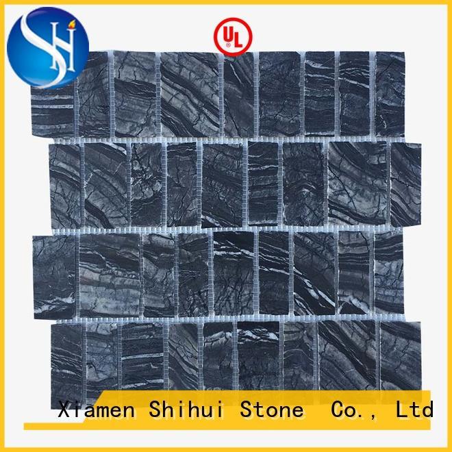 Shihui hot selling stone mosaic tile backsplash manufacturer for household