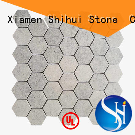 grey natural stone mosaic from China for indoor