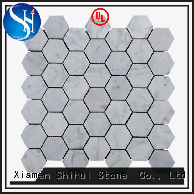 Shihui basalt cobblestone mosaic tile for bathroom