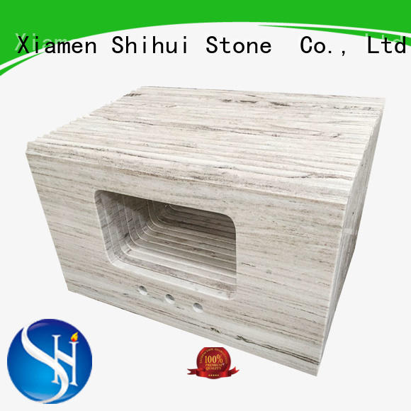 Shihui brown stone slab countertop personalized for kitchen