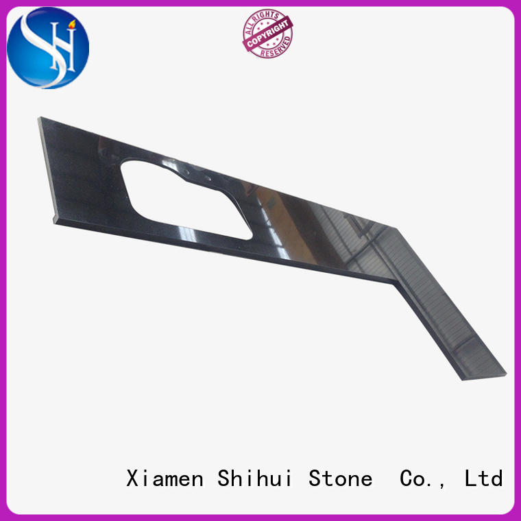 Shihui black stone slab countertop personalized for kitchen