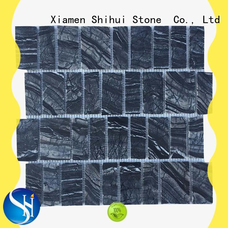 Shihui natural stone mosaic tiles directly sale for toilet