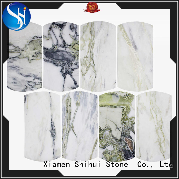 square stone mosaic backsplash from China for indoor