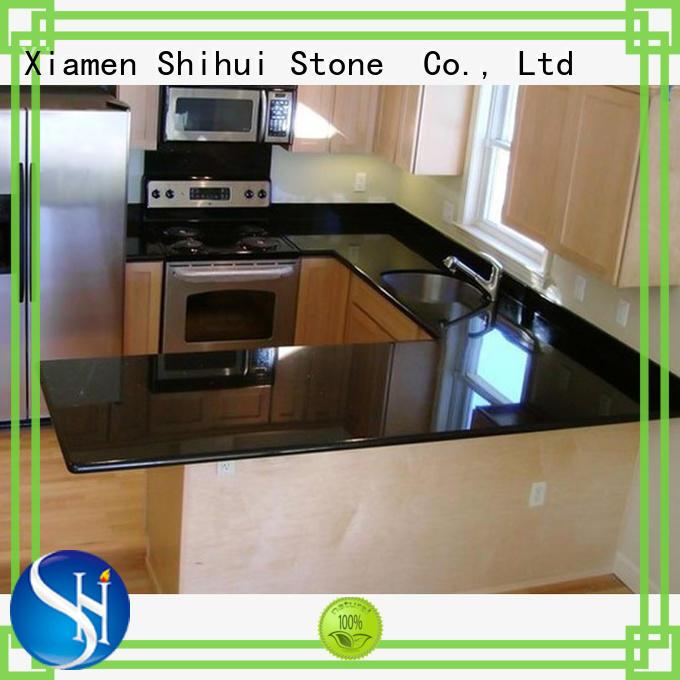 Shihui black stone slab countertop wholesale for bathroom