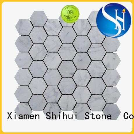 Shihui grey stone pebble mosaic manufacturer for toilet