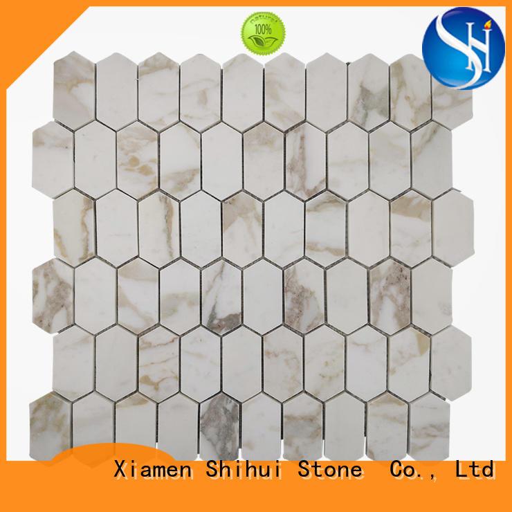 grey stone mosaic backsplash series for household