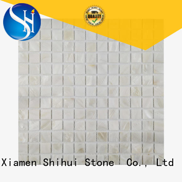 oriental stone mosaic backsplash customized for toilet