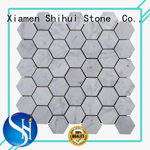 Shihui practical stone mosaic backsplash manufacturer for indoor
