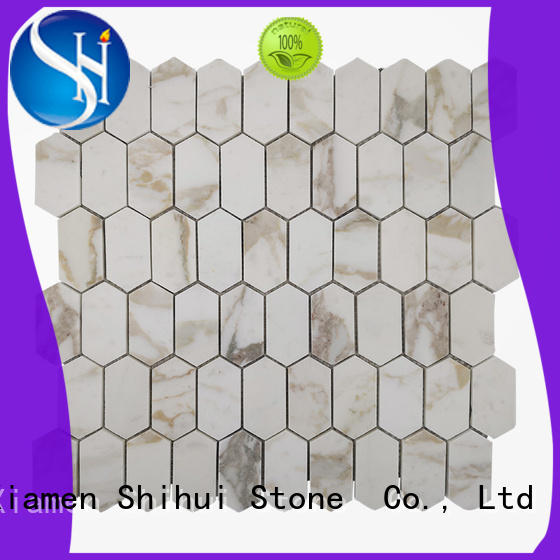 square natural stone tile mosaic series for bathroom