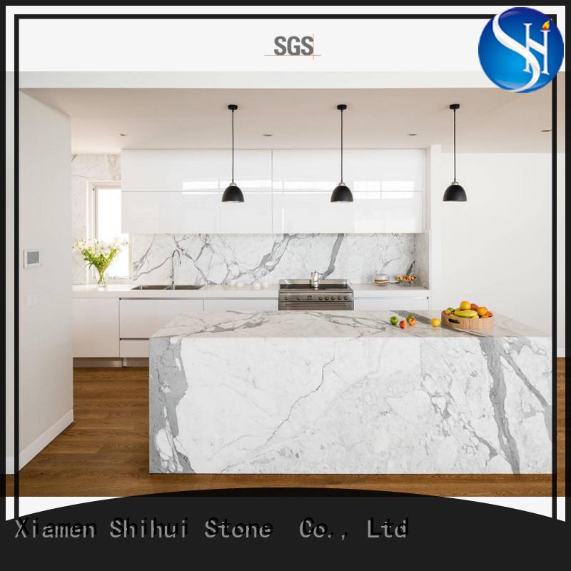 calacatta engineered stone countertops wholesale for hotel