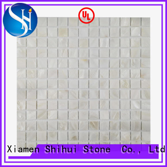 Shihui grey stone mosaic backsplash from China for indoor