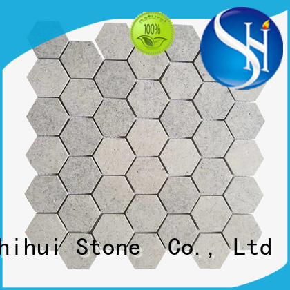 hexagon natural stone mosaic series for bathroom