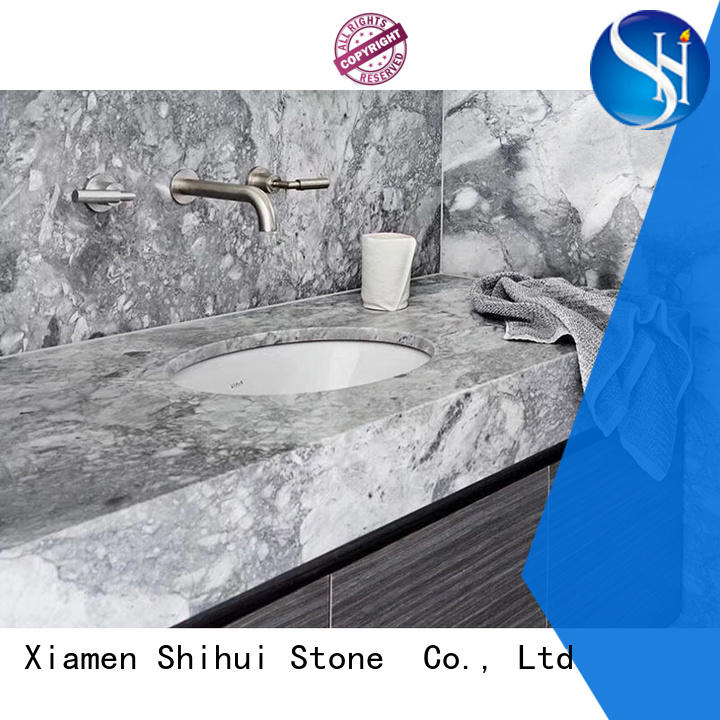 Shihui stone slab countertop supplier for bathroom
